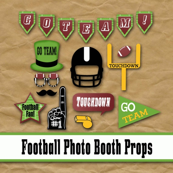 Football Party Photo Props Football Photo Booth Props And