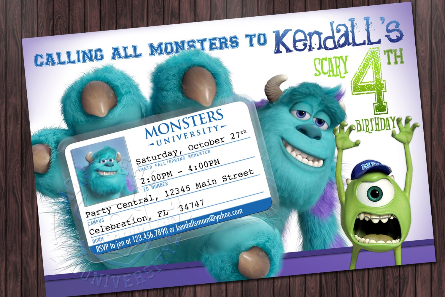 Monsters Inc Invitation for amazing invitation sample