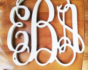 SALE- 24 inch Wooden Monogram Letters- Unpainted- Wedding Decor- Home Decor