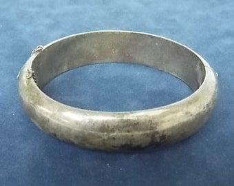 Vintage .925 Sterling Silver Clasp Bracelet, 34.84g #E754