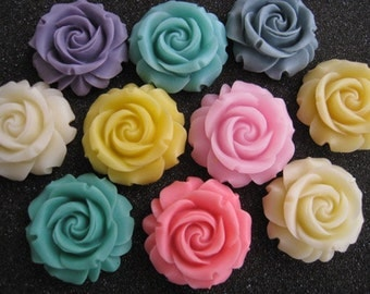 10pcs  Resin flower cabochon for Pendant Charm Craft Jewelry.