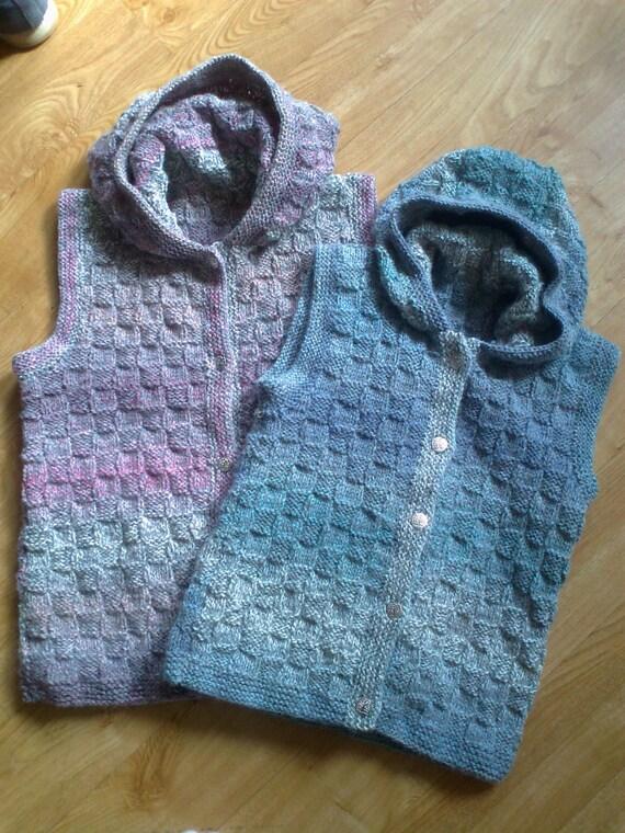 Knitting Pattern Waistcoat : Knitting Pattern Childs Hooded Waistcoat