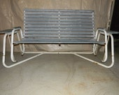 Items Similar To Metal Frame Outdoor Love Seat Glider On Etsy