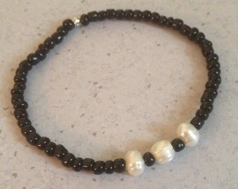 Freshwater Pearls on Black