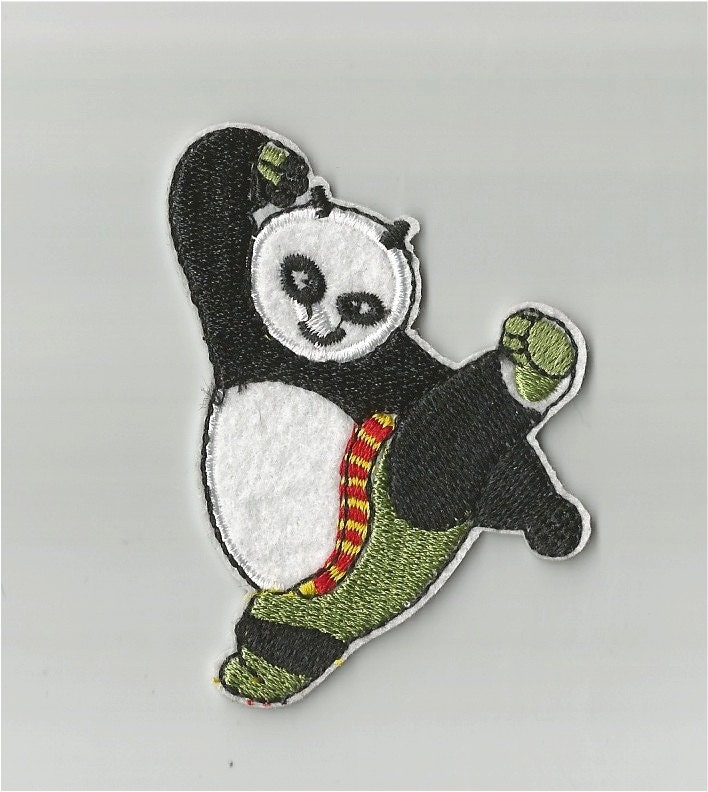 Iron On Sew On Patch Panda Iron On Sew On Patch Med