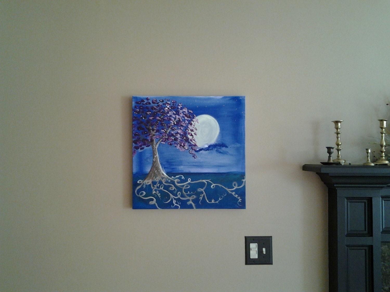 stunning acrylic energy art tree painting wall art wall decor stunning acrylic energy art tree painting wall art wall decor tree of life acrylic on canvas reiki art metaphysical 20x20x1 deep roots