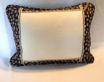 Ralph Lauren Pillow Cover Black and Creme