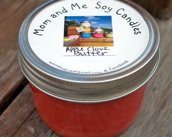 Apple Clove Butter 8 ounce Scented Soy Candle
