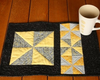 SALE Quilted Placemats Set of 4