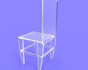 Acrylic Plesiglass Transparent Chair 10035-3