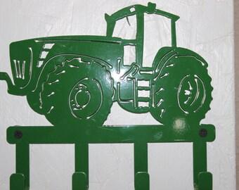 Custom key holder, tractor shape with 4 hooks