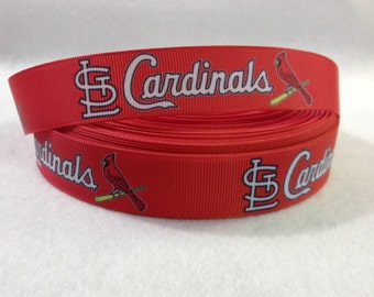7/8 St. Louis Cardinals Grosgrain Ribbon