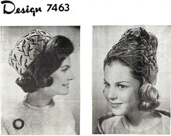 Mail Order 7463 Jackie Pillbox or Toque Hat /  Very Early 1960's / UNCUT