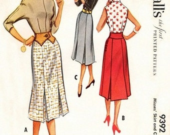 McCall's 9392 Blue Ribbon Winner Skirt & Contour Belt  1953 / WAIST24 UNCUT