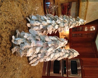 """Oyster Shell Christmas Trees - 20"""" Tall, 16"""" Tall and 12"""" Tall"""
