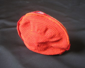 orange red round bag