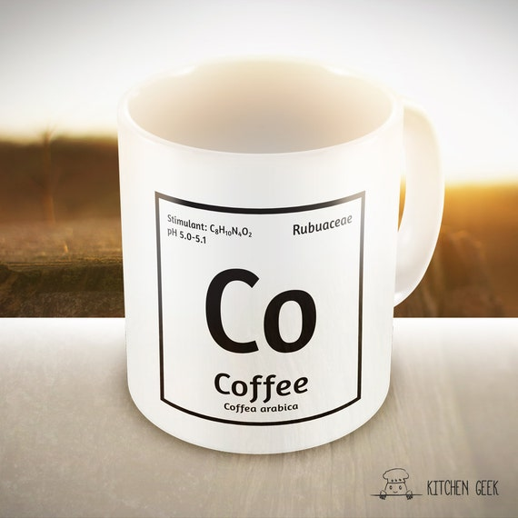 Items Similar To Scientific Element Of Coffee Printable Periodic Table Digital Design Clean