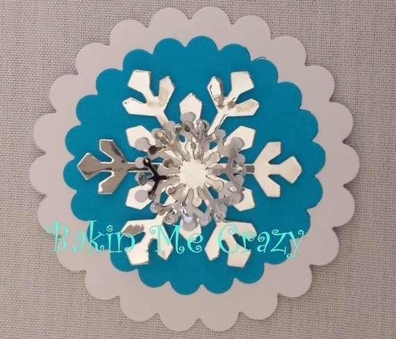 12 x 5 layer 3d large snowflake decorations perfect for frozen for Big snowflakes decorations
