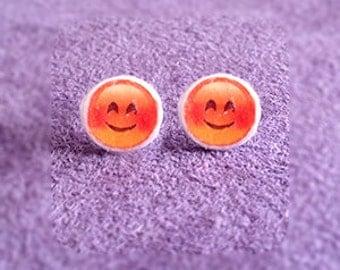 Fun Emoji Smiley Face Earrings