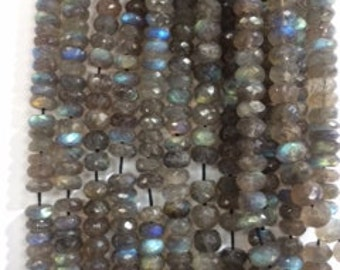 Nice Blue Flash Labradorite  Beads-- STRAND