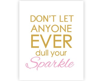 Sparkle - INSTANT DOWNLOAD Art Print - 8x10