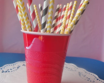 25 Mickey Mouse Themed Paper Straws
