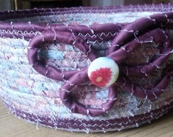 Big fabric coiled basket/bowl