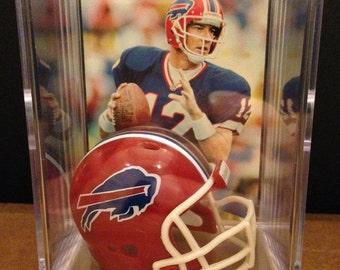 Buffalo Bills Jim Kelly #12 Mini Helmet Shadowbox w/ card