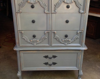 SOLD: Gorgeous Grey Chest of Drawers