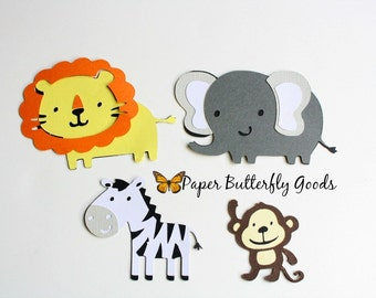 Zoo/ Jungle/ Safari Die Cuts Set of Four