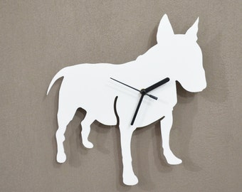 English Bull Terrier Dog  - Wall Clock