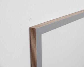 Grey 8 picture frame - 18 mm plain, multiplex