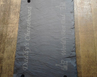 Beautiful Engraved Natural Slate Cheese Board, Personalised with any message to make the perfect gift or present WORLDWIDE DELIVERY