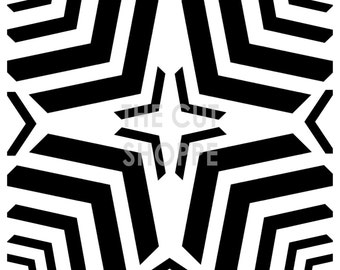 The Centered Chevron Cut File is a 12x12 background file.