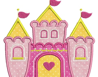 Castle Applique Design -In Hoop size 5 x 7, - Instant Download - for Embroidery Machines
