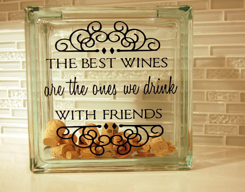 wine cork holder glass block wine cork