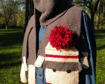 Sock Monkey Scarf knitting pattern