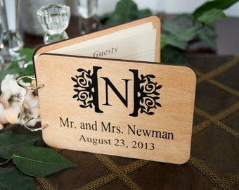 Party Guest Book, Wedding Guest Book, Personalized, Shower Guest Book, Engagement Guest Book, Wood