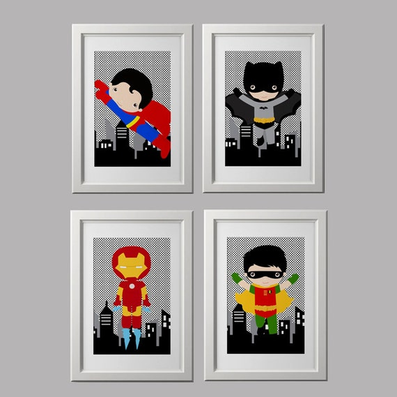 superhero bedroom wall decor super hero wall art prints superhero