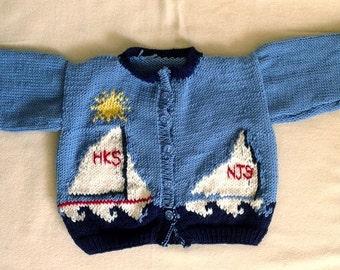 Sunny Sailboats Sweater