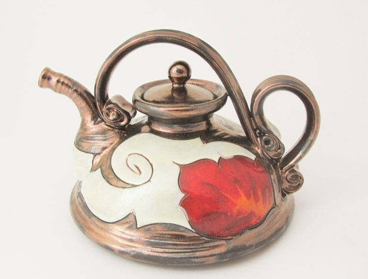 Ceramic Teapot Pottery Teapot Unique Pottery Teapot By