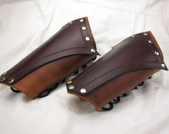 Leather Bracers Medieval Pirate conquistador