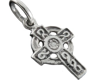 Silver Celtic Cross Pendant TRK032