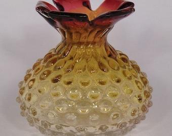 Czech Bohemian Prachen Art Glass Vase by Frantisek Koudelka