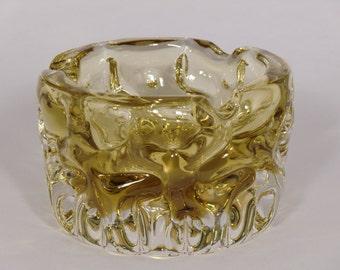 Czech Bohemian Art Glass Ashtray designed by Pavel Hlava