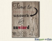Wine Cork Art Canvas Print - Uncork and Unwind