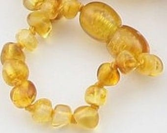 Baltic Amber Teething Bracelet - Slightly Imperfect in color