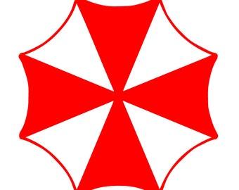 Resident Evil Umbrella Corporation Vinyl Decal