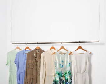 Brushed Hanging Clothes Rack
