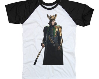 LOKI , Tom Hiddleston Black & White Two Tone Shirt T-Shirt ...